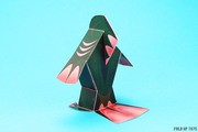 Fingar the fish monster paper toy - Back