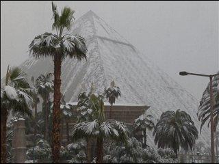 Luxor Snow Pic