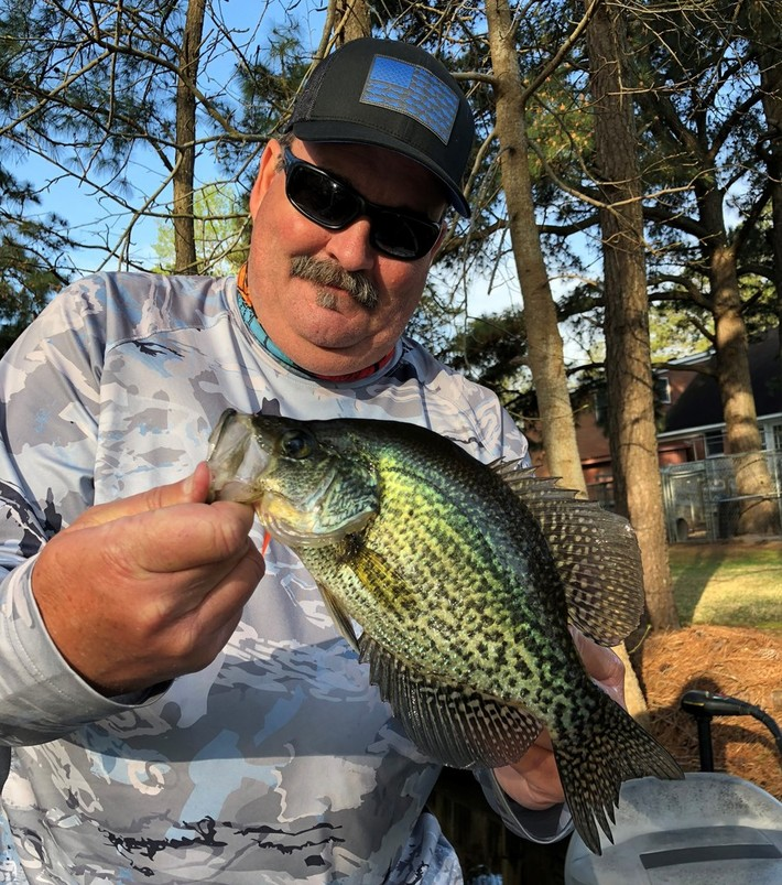 One of My Nice Black Crappie Today......4/15/2018
