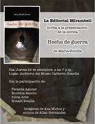 afiche para presentar HECHO DE GUERRA