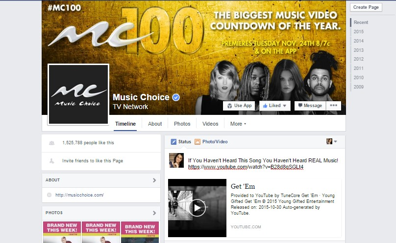 Music Choice Channel 100 Featuring Young Gifted Hit Single Get'Em