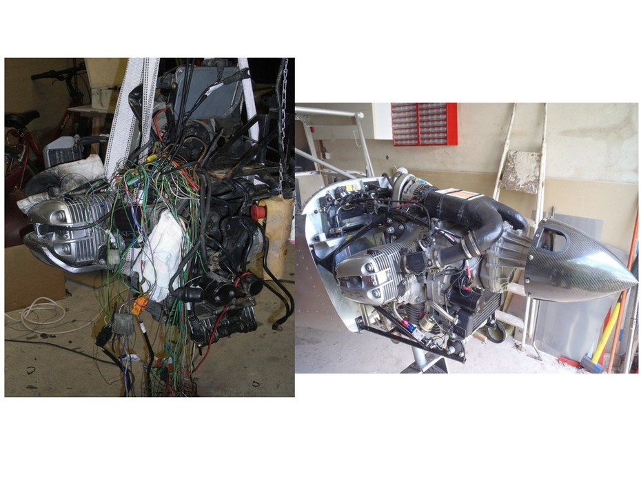 701 BMW engine before and after