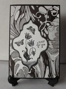 Black, white, gray Just for You card