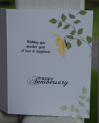 Inside of Mom and Dad Anniversary Card