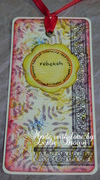 Rebekah's Collage Bookmark with Flower Label