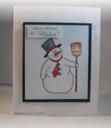 Warm Wishes with Snowman