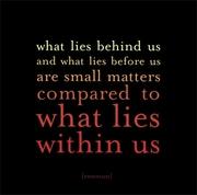What Iies behind us
