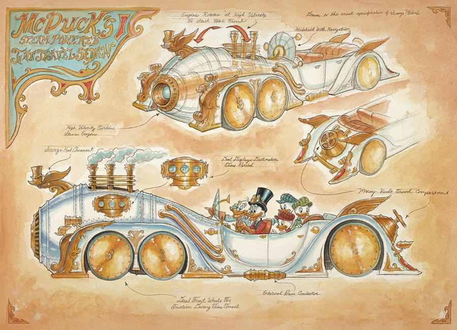 McDuck's Steam-Powered Time Travel Sedan by Mark Page