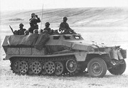Sd.Kfz. 251 with jerrycans