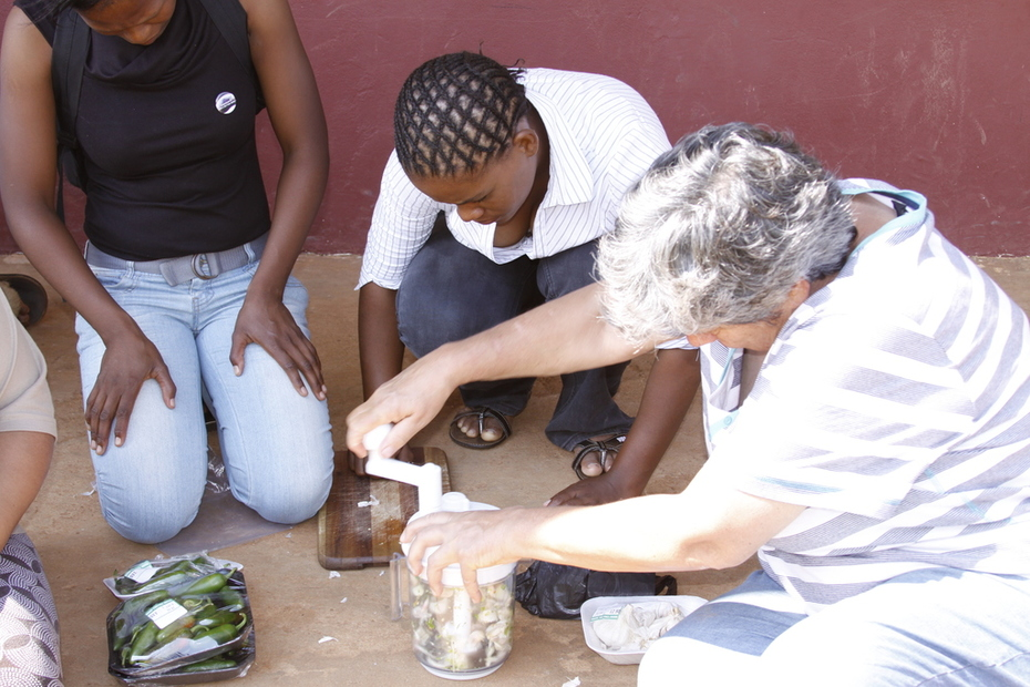 Making natural pesticides in rural South Africa