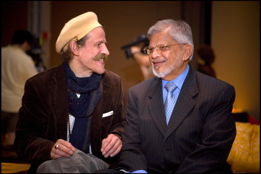 Music 4 Peace - Gandhi Tour Funder Tobias Huber and Dr. Arun Gandhi in New York