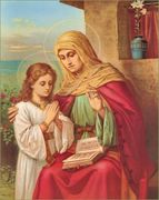 St Anne and Our Lady.