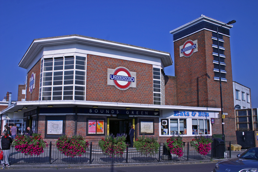 Bounds Green Tube Station Flower boxes