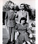 Frank Scalise, Lucky Luciano, and Mrs. Scalise