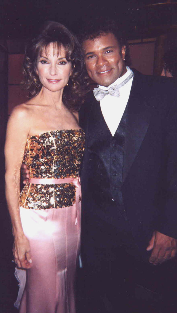 Christopher with Susan Lucci on stage at the Daytime Emmy Awards