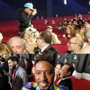 Chance The Rapper right behind me at the Grammy's - Go figure