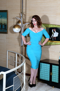 Monica Dress in Teal Size Medium