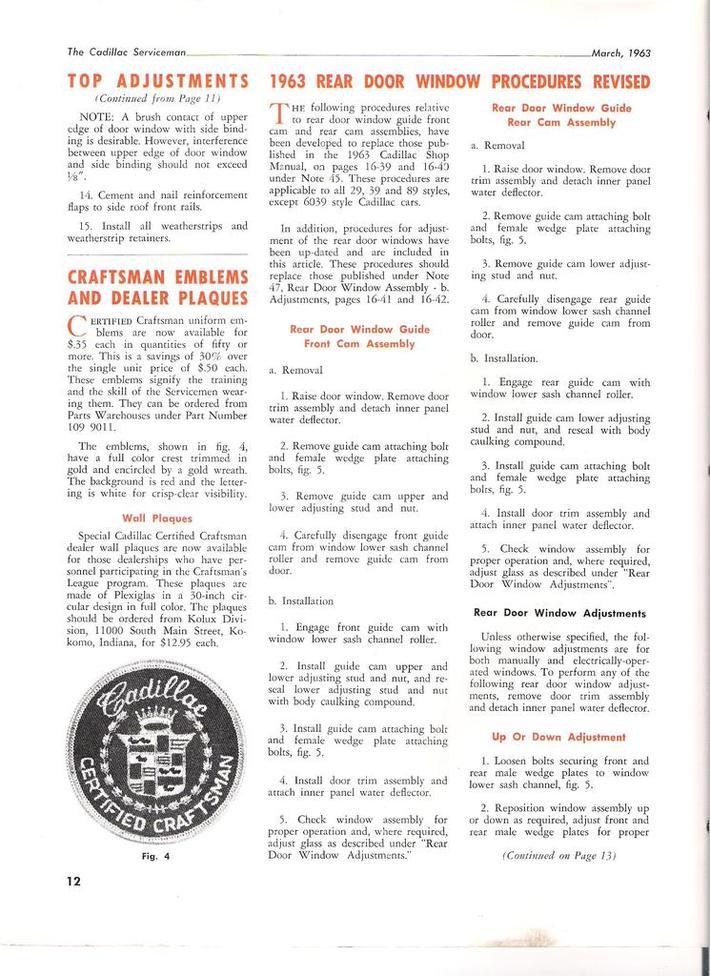 1963 Cadillac Serviceman pg12