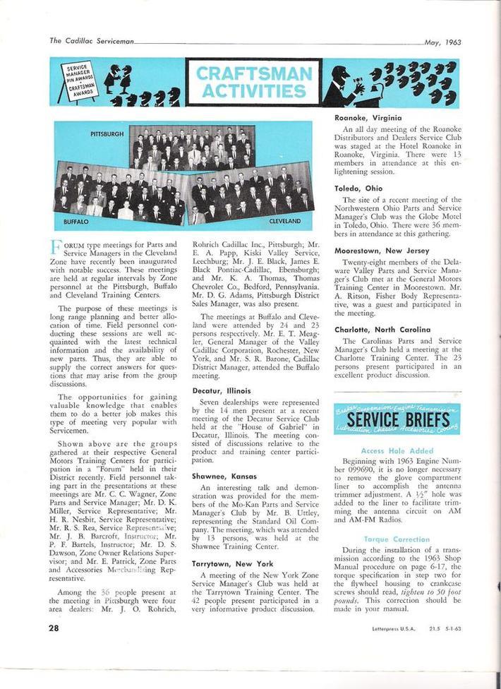 1963 Cadillac Serviceman pg28