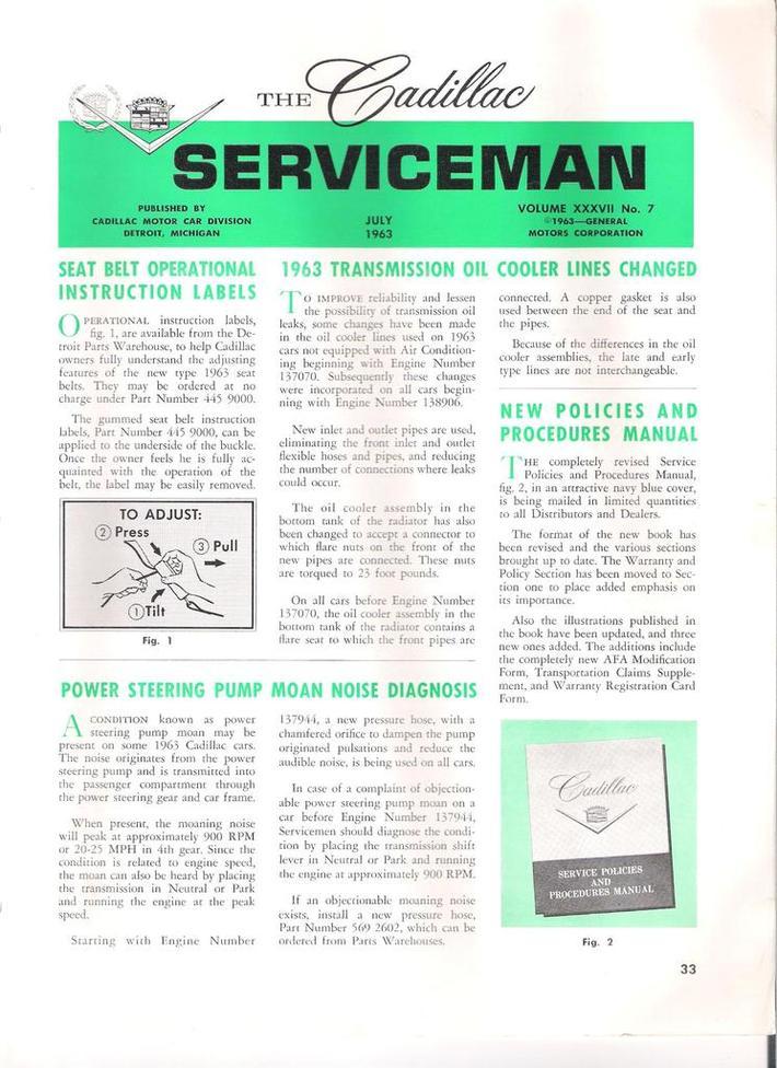 1963 Cadillac Serviceman pg33