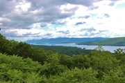 Lake George & Fort William Henry Hotel from Prospect Mountain