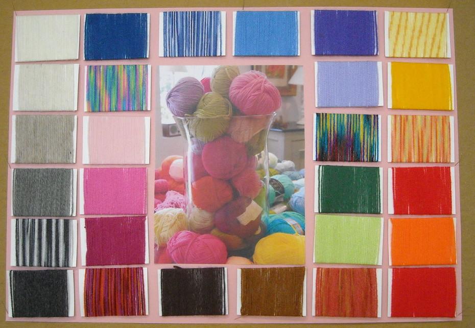 Wolle wickeln  Wool Art