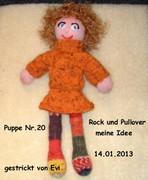 Pulllover und Rock f.Puppe Nr.20