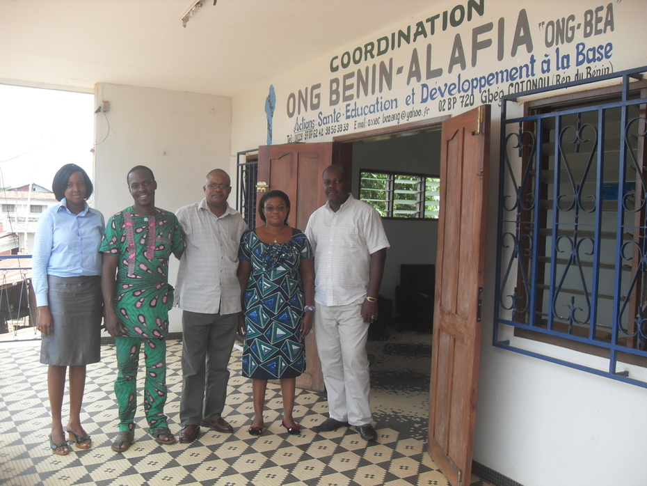 Photo du Personnel permanent de l'ONG BENIN ALAFIA