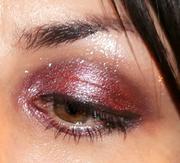Deep Red/Purple Shimmery eyelook (open eye)