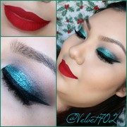 Christmas inspired makeup