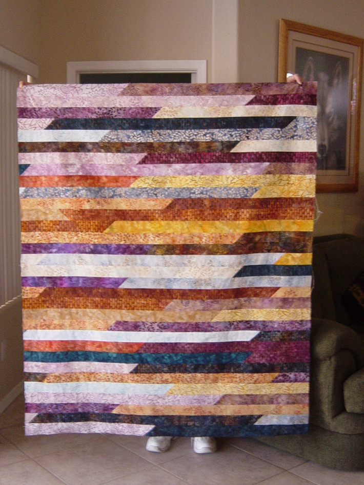 1600 Jelly Roll Quilt Top April 2011
