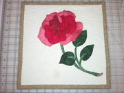 First Applique Rose First Hand Quilted Project