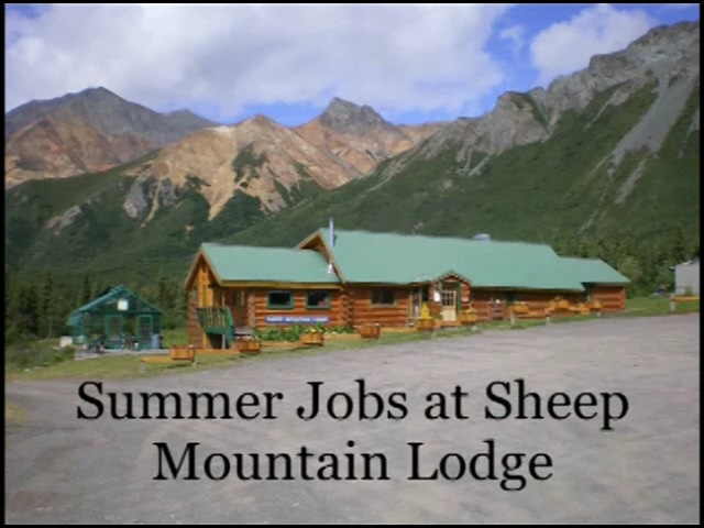 Alaska Summer Jobs at Sheep Mountain Lodge