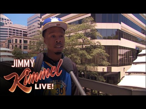 Jimmy Kimmel Goes To Oakland To Call Out FAKE #DUB Fans!