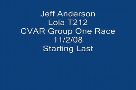 CVAR Group One Race  - 11-2-08