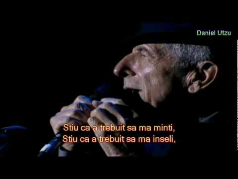 Cel mai frumos poem de dragoste: Leonard Cohen - A Thousand Kisses Deep
