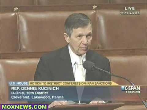 Iran Sanctions Resolution  Congressmen Kucinich makes an effective case why impentation of  Iran ban of gasoline imports only hurts the Iranian people,