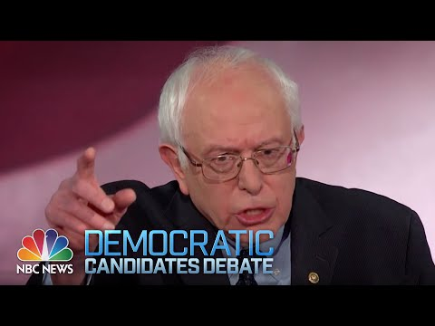 Climate Change Senator Bernie Sanders Debate is Over NBC News