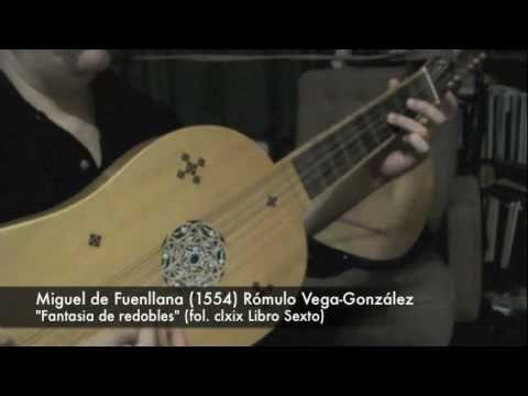 """Miguel de Fuenllana: """"Fantasia de redobles"""" (1554)"""