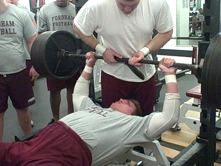 Fordham Football - Winter Testing - Andrew Tyshovnytsky