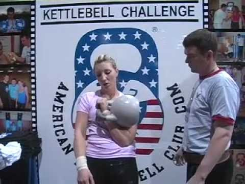 20 One Arm Jerks with 79lb Competition Kettlebell