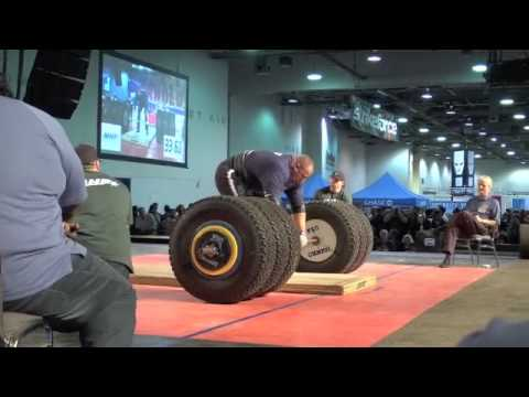2011 Arnold Strongman Classic Champion Brian Shaw 1,032 lb Tire Deadlift
