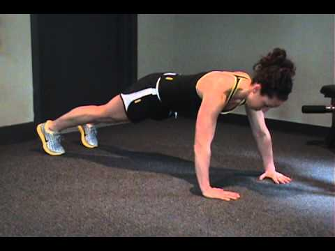 Plank to Push Up Progressions