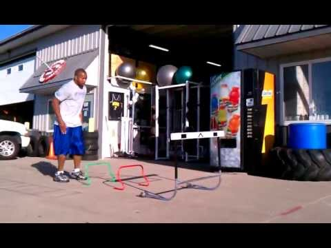 multi-response plyometric drill Hurdle Hops