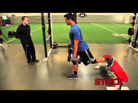 NFL Combine Training: Bulgarian Split Squat