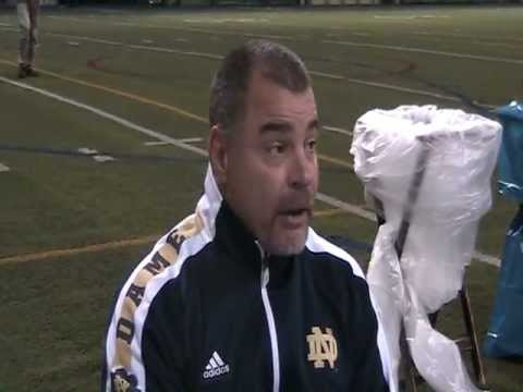 Notre Dame Strength Coach at Post Season Media Day