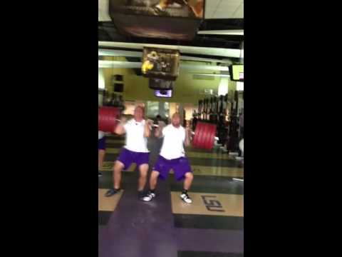 LSU Strength Staff Dual Power Clean 594lbs