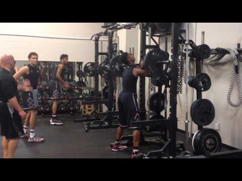 South Carolina Basketball: FRONT SQUATS with Coach Scott Greenawalt