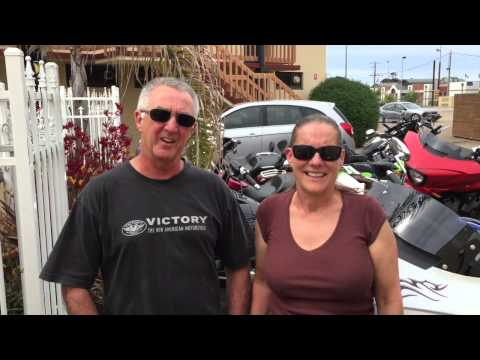 Gary and Leanne at Lakes Entrance Ride