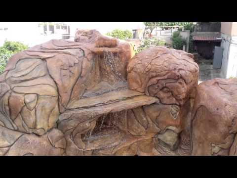 Cascada artificial hechas a mano